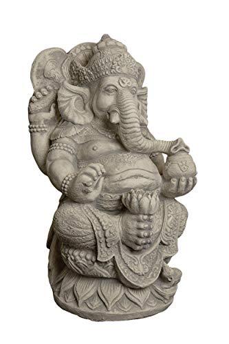 gartendekoparadies.de Massive große Ganesha – der Göttliche Statue Hinduismus Gott aus Steinguss frostfest