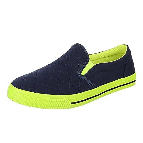 Damen Schuhe, H537, HALBSCHUHE, SLIPPER, Textil , Blau, Gr 38 (Jane The Hunter Kostüm)