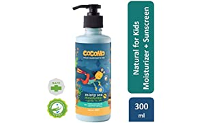 Cocomo Natural Sulphate and Paraben Free Moisturiser (Body Lotion) and Sunscreen Lotion for Kids (SPF 15) - Minty Sea 300ml (Age: 4 yrs and above)
