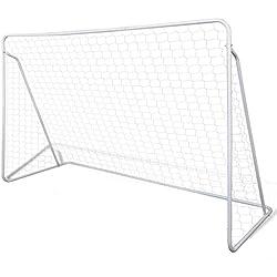 vidaXL Conjunto De Portería Fútbol Acero 240 x 90 150 cm Alta Calidad