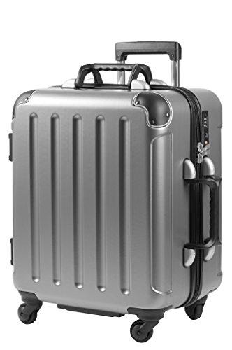 VinGardeValise Trolley Petite (Handgepäckgröße: 58x45x31)   Wein-Reisegepäck   Reisekoffer für jeden Anlass   Bis zu 8 Weinflaschen (Silber)