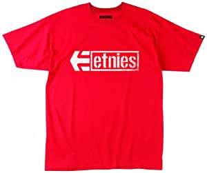 Etnies Herren T-Shirt Stencil Box, red, S, 4130002081