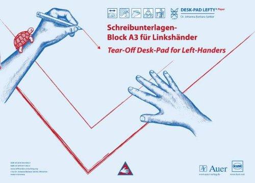 Schreibtischauflage ca A3 Papier-Block Linkshänder Desk-Pad Lefty