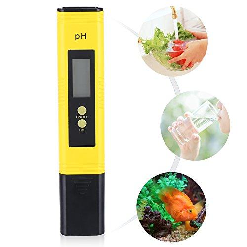 Medidor digital de pH con resolución de 0,01 y lápiz LCD para...