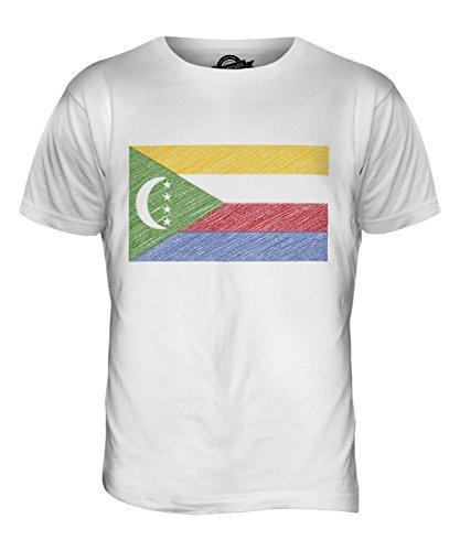 CandyMix Komoren Kritzelte Flagge Herren T Shirt Weiß