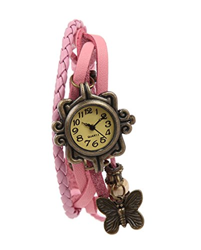 Mango People Stylish Pink Vintage Watch For Women  available at amazon for Rs.98