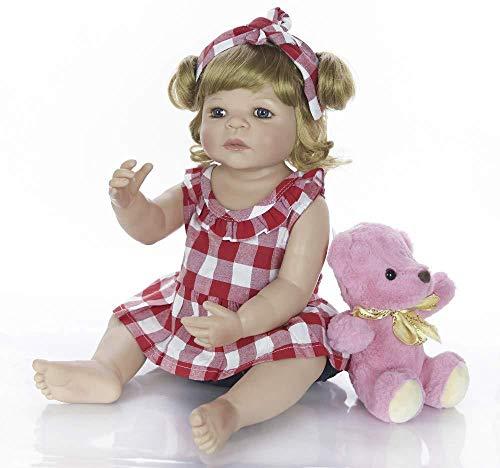 DMPQG Realistische Babypuppen Die Lebensechte Echt Aussehende Weiche Vinyl-Reborn-Puppen Für Babys Und Jungen Als Spielzeug Für Die Pflege Der Simulation Verwenden