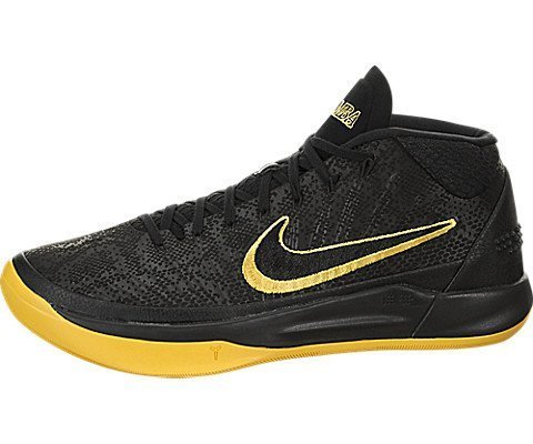 en Hi Top Basketball Trainers AQ5164 Sneakers Schuhe (UK 10 US 11 EU 45, Black University Gold 001) ()