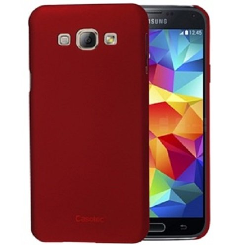 Casotec Ultra Slim Hard Shell Back Case Cover for Samsung Galaxy A8 - Maroon Red  available at amazon for Rs.125