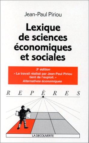 Lexique de sciences économiques et soci...