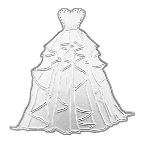 DIY Handwerk Schneidform Karbonstahl Herz Hochzeit Kleid Stanzschablone Schablone Schablone DIY Papier Kunst Basteln Scrapbook Lesezeichen Karte Dekoration