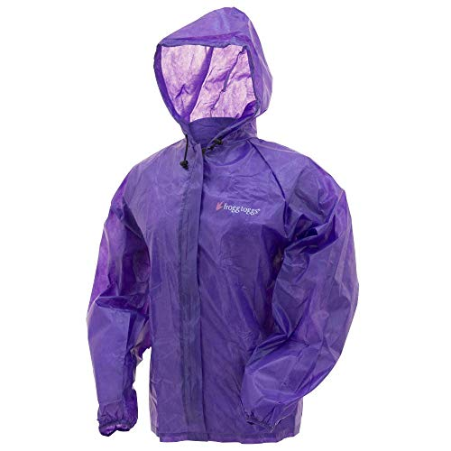 Frogg Toggs Notfall-Regenjacke, Unisex-Erwachsene, FTEJ5-65L/XL, violett, Womens L/XL Womens Storm Front Jacket