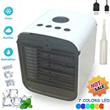 Condizionatore Portatile Air Portable Cooler - 3-in-1 Mini Raffrescatore Evaporativo Umidificatore Purificatore D'aria, USB Cooler, Leakproof & New Filter Paper