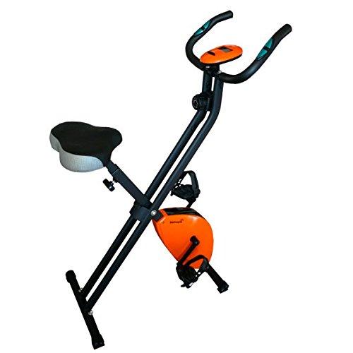 Softee 0030180 Bicicleta estática Plegable, Unisex, Negro/Naranja, Talla Única
