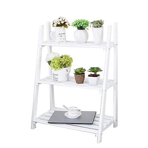 AFDK Regal-Bücherregal-faltender Rahmen-tragbarer Leiter-Blumen-Stand-Eckzarge, Wohnzimmer-Schlafzimmer