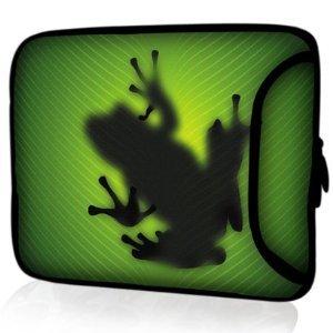 """Sidorenko Designer Laptoptasche mit Zusatzfach für Maus und Ladegerät an der Vorderseite der Notebooktasche // Größe 43,9cm von 17"""" bis 17,3"""" Zoll Neopren Schutzhülle"""