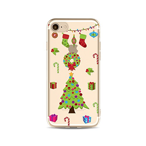 iPhone 6S Plus Custodia Silicone,iPhone 6S Plus Cover Xmas,TPU Gel Protettivo Shell Case Cover per 5.5 Apple iPhone 6 Plus/iPhone 6S Plus Merry Christmas Natale Slim Sottile Crystal Clear Silicone Mo Xmas 09
