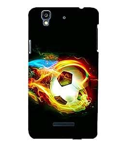 printtech Fire Football Back Case Cover for YU Yureka::Micromax Yureka AO5510