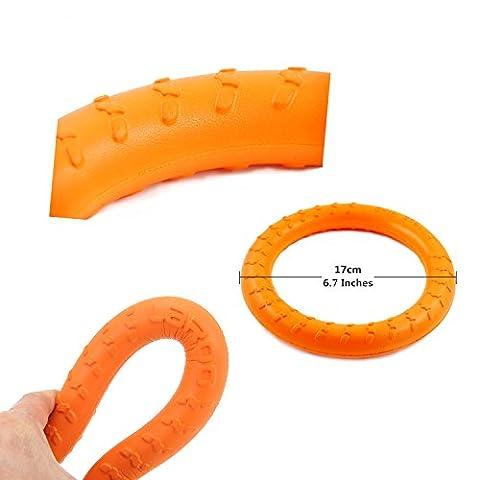 LaRoo Dog Flying Anneau Frisbee Animaux de Compagnie Flying Disc Anneau de Fitness Non Toxique pour les Chiens - Orange