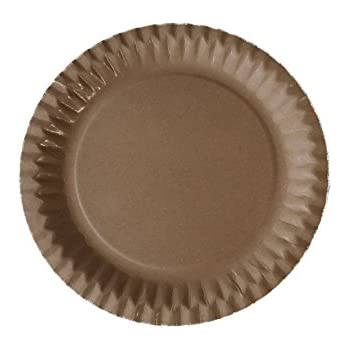 100 Paper Plates Diameter 23 cm Round Cake Biodegradable Natural Brown Coated Polypropylene Snack Disposable Barbecue  sc 1 st  Amazon UK & 100 Paper Plates Diameter 23 cm Round Cake Biodegradable Natural ...