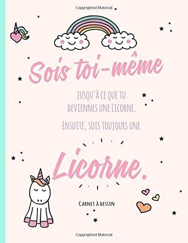 Carnet  dessin  - conception de licorne: Pour dessiner et crire, papier blanc, grand format A4, pour les fans de licorne, grand format conception de ... les fans de licorne cadeau mignon pour fille