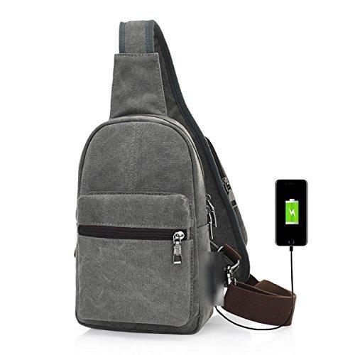 BULAGE Paket Glanz Lässig Brusttasche Mode Reisen Männer Schulter Mehrzweck- Im Freien Laden Multi-funktionale Bequeme Personalisiert Gray