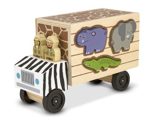 Melissa & Doug Rettungslaster aus Holz für Safaritiere mit Spielfiguren (10 Teile)
