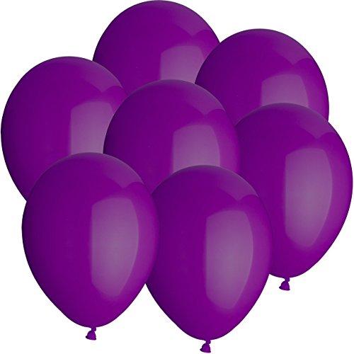 Ø25cm + Geschenkkarte + PORTOFREI mgl. + Helium & Ballongas geeignet. High Quality Premium Ballons vom Luftballonprofi & deutschen Heliumballon Experten. Tolle Luftballondeko und Geschenkidee mit Ballons. (Ballon-lila)