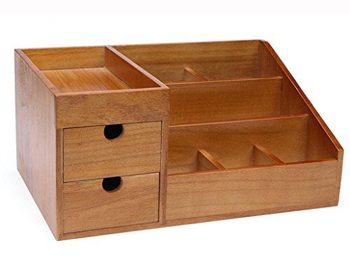 Étui cosmétique HWF Cosmétique Box de Rangement Table de Toilette Étagères de Bureau Woody Skin Care Products Storage Cabinet Organisateur