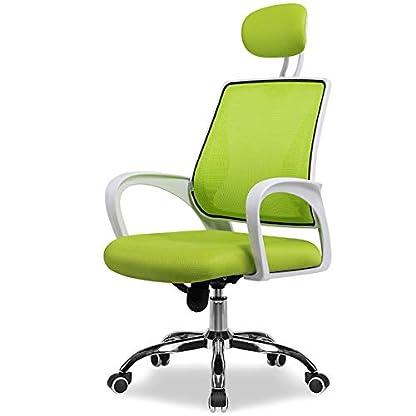 RUNXIAN Silla de la computadora Levante silla giratoria de oficina Silla ergonómica de respaldo y el asiento ajustable Altura de la silla reclinable con la almohadilla mecedora reclinable Silla de ofi