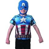Capitán América - I-35156 - Traje - Deluxe acolchado Pecho - El Soldado de Invierno - Tamaño 3-6 años (98-116 cm)