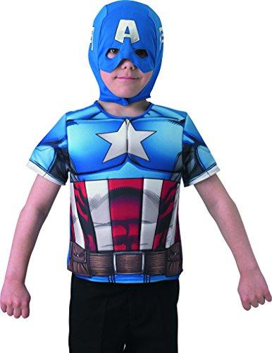 Captain America–i-35156Kostüm Gepolsterter Brustgurt Teller Deluxe–Der Winter Soldier–Gr. 98–116cm (3–6Jahre)