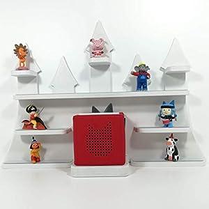 Tonie Board, Schloß in weiß mit weißen Regalen, ideale Aufbewahrung für Tonie Box und Tonie Figuren, Kinderzimmer Regal, Deko Board, Musikboxaufbewahrung, Hängeregal