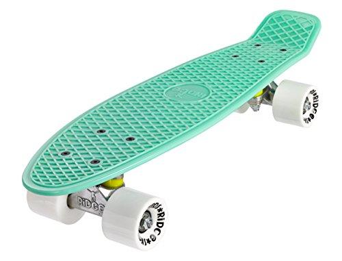 """Ridge 22"""" Mini Cruiser Board Retro Skateboard, Pastels, Pastell-serie, komplett ausgerüstet, völlig in der EU entworfen und hergestellt"""