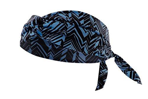 Nike Studio Twist Printed Head Tie (One Size Fits Most, Blue Lagoon/Black)