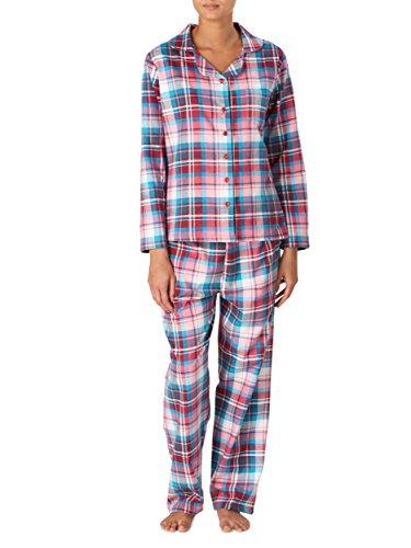 Slenderella - Ensemble de pyjama - Femme X-Large Turquoise Check