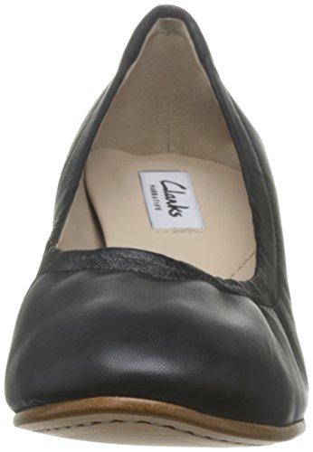 Clarks Grace Isabella, Scarpe con Tacco Donna Nero (Black Leather)