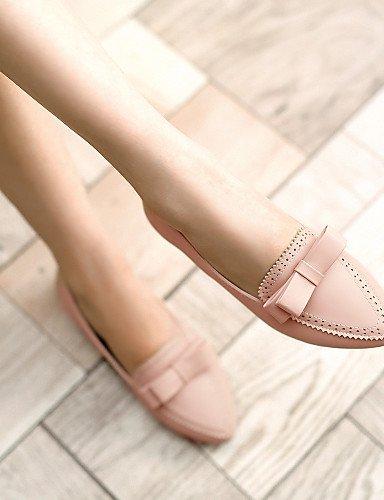ZQ gyht Scarpe Donna - Mocassini - Tempo libero / Casual - A punta - Piatto - Finta pelle - Nero / Blu / Rosa / Beige , pink-us8 / eu39 / uk6 / cn39 , pink-us8 / eu39 / uk6 / cn39 pink-us6.5-7 / eu37 / uk4.5-5 / cn37