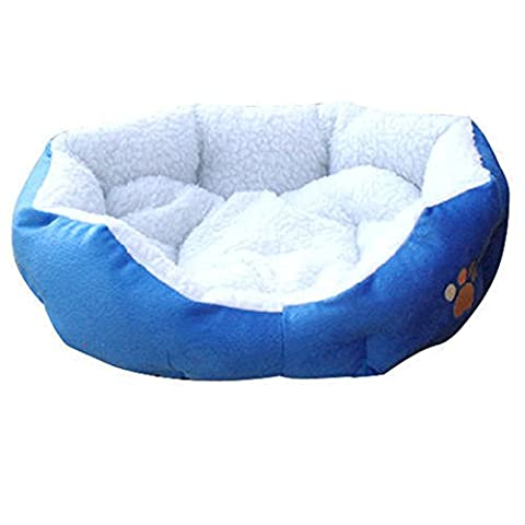 Ardisle Warm Soft Fleece Puppy Animaux domestiques Dog Chat Bed House Panier Nest Mat Imperméable (Bleu)