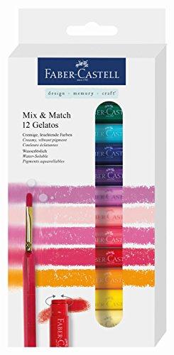 Faber-Castell 121812 – Estuche con 12 gelatos y pincel, colores surtidos