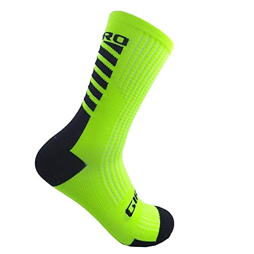 CfMWz Basketball Abfahrt MTB Bike Socken Grün verdicken Run Jogging atmungsaktiv warm halten Cozy verdicken UV Schutz Kälteschutz (Size : Free Size (37-44))