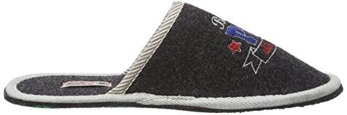Pantofole Adelheid Best In Feltro Pantofole Da Uomo Nere (corvo Nero 905)