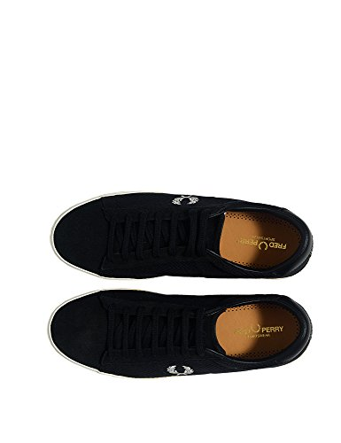 Fred Perry Men's Men's Suede Black Sneakers Leather Black