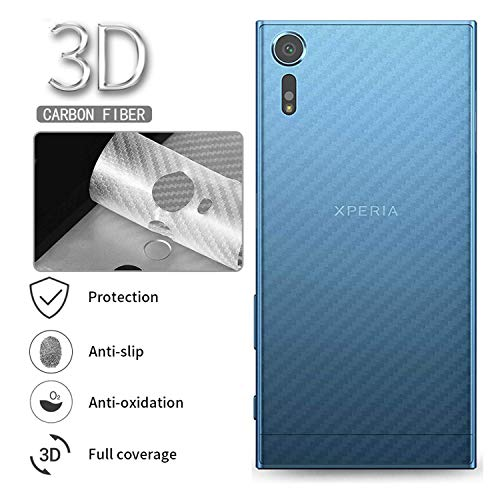 Vikimen Ausgeglichenes Glas-Film, Schirm-Schutz, 5Pcs Carbon Fiber Back Screen Protector Protective Film for Sony Xperia X XA XA1 XZ XZ1 XZ2 Compact Ultra Premium Plus XZ2 (Display-gehäuse Für Messer)