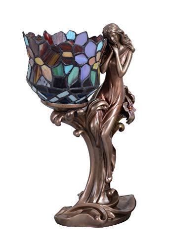 Tiffany Lampe Jugendstil Tischleuchte Frauenfigur Tischlampe Antikstil IS280 Palazzo Exklusiv