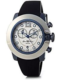 Glam Rock–SB3001–SoBe Damen-Armbanduhr–Quarz Chronograph–Weißes Ziffernblatt–Armband Silikon weiß