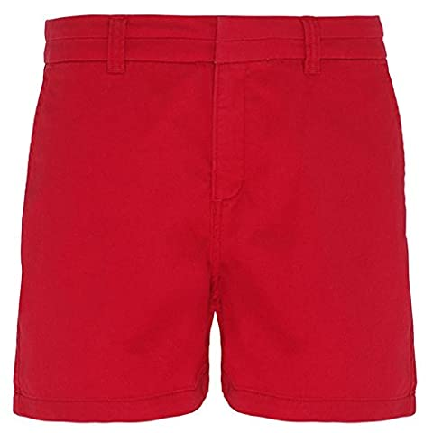 Women's Chino Shorts Classic Fit Soft Fabric Finish Pant's By Asquith & Fox (Medium - 12(28
