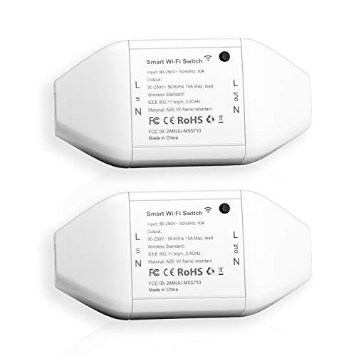 Pack 2 Interruptores Universales Inteligentes Wi-Fi