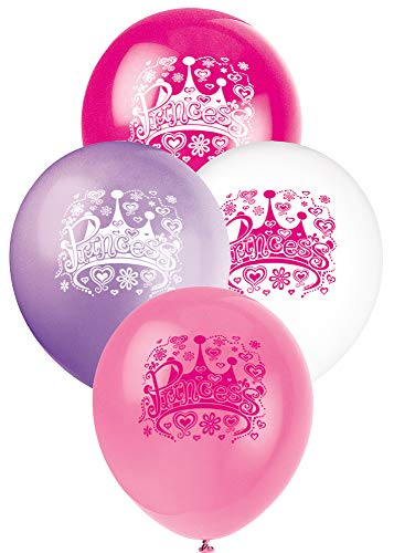 Unique Party Supplies 30,5 cm Latex Prinzessin Diva Geburtstag Luftballons, 8 Stück