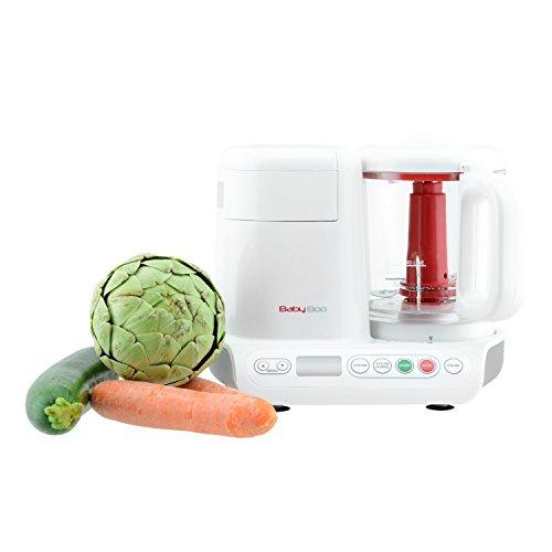 H.Koenig BB80 Dampfgarer und Mixer für Zubereitung von Babynahrung / Glasbehälter / Ohne Zusatz von Bisphenol A / 10 automatische Programme / 950 ml / weiß - 6